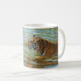"Tigre ""de bain d'après-midi"" - mug"