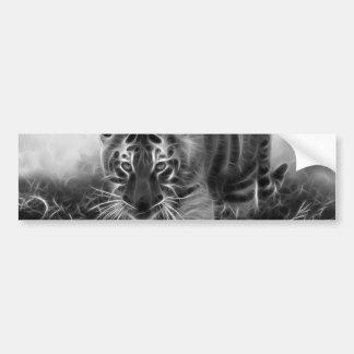 Tigre de bébé égrappant en noir et blanc autocollant de voiture