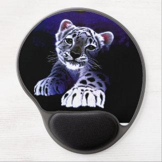 Tigre de blanc de bébé tapis de souris gel