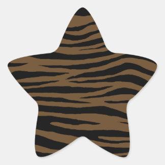 Tigre de Brown de loutre Sticker Étoile