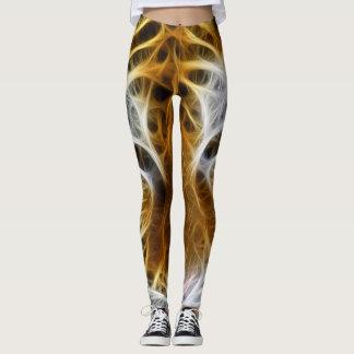 Tigre de fractale leggings