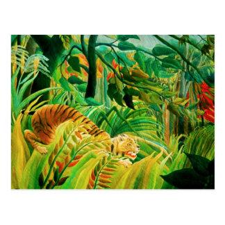Tigre de Henri Rousseau dans une carte postale