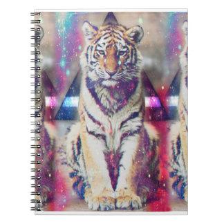 Tigre de hippie - art de tigre - tigre de triangle carnet