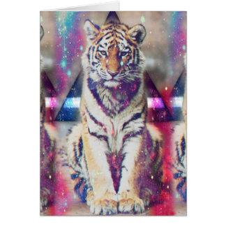Tigre de hippie - art de tigre - tigre de triangle cartes