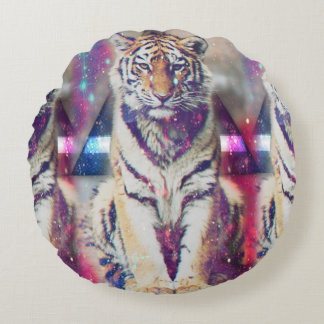 Tigre de hippie - art de tigre - tigre de triangle coussins ronds