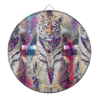 Tigre de hippie - art de tigre - tigre de triangle jeu de fléchettes