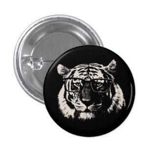 Tigre de hippie avec des verres badges