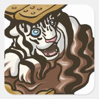 Tigre de Smore Sticker Carré