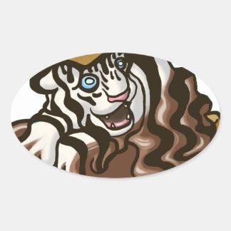 Tigre de Smore Sticker Ovale