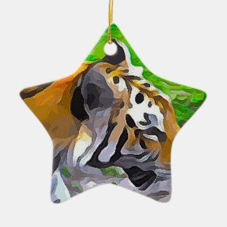 Tigre d'objet exposé ornement étoile en céramique