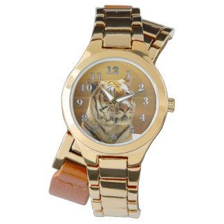 Tigre d'or montres cadran