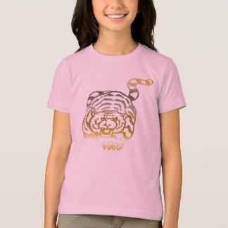 Tigre d'or - T-shirt de sonnerie de filles