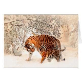 Tigre et petit animal - tigre cartes