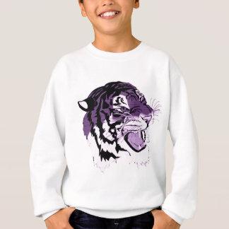 Tigre fait face pourpre sweatshirt
