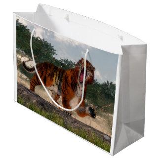 Tigre hurlant - 3D rendent Grand Sac Cadeau