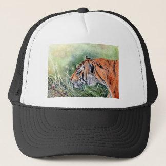 Tigre marchant par la jungle casquette