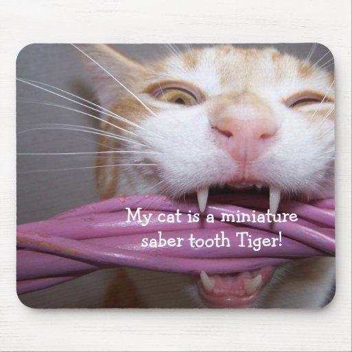 tigre Mousepad de dent de sabre Tapis De Souris