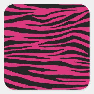 Tigre rose de cornouiller sticker carré