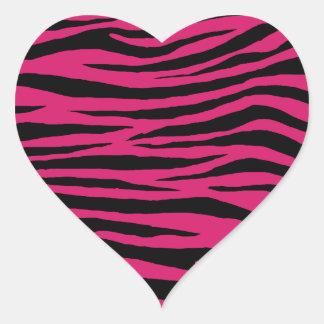 Tigre rose de cornouiller sticker cœur