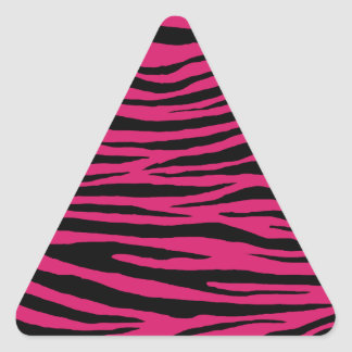 Tigre rose de cornouiller sticker triangulaire
