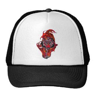 Tigre rouge casquettes