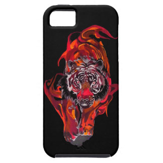 Tigre rouge coques iPhone 5