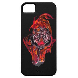Tigre rouge étuis iPhone 5