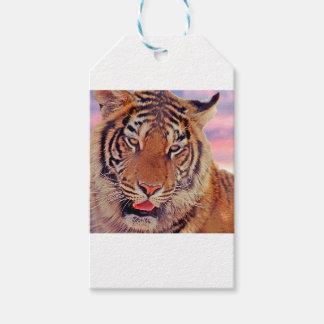 Tigre somnolent - étiquettes-cadeau