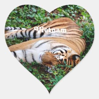 Tigre Sticker Cœur