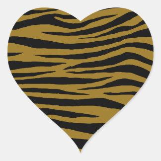 Tigre terne sticker cœur
