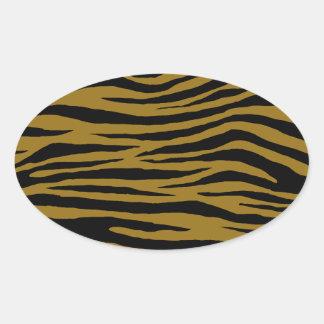 Tigre terne sticker ovale