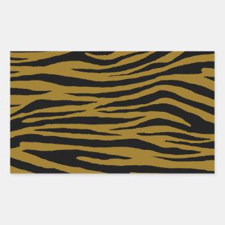 Tigre terne sticker rectangulaire