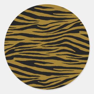Tigre terne sticker rond
