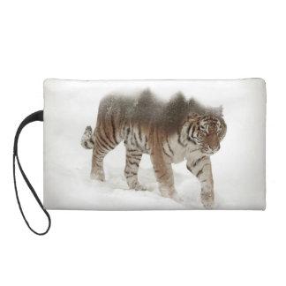 Tigre-Tigre-double exposition-faune sibérienne Pochette Avec Dragonne