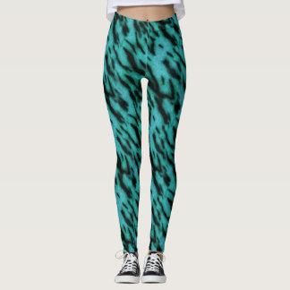 Tigre turquoise leggings