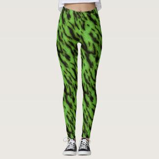 Tigre vert leggings