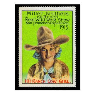 Timbre #2, Panama Pacifique d'affiche de cow-girl Carte Postale