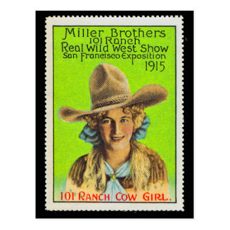Timbre #2, Panama Pacifique d'affiche de cow-girl Cartes Postales