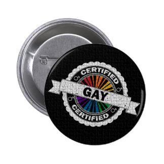 Timbre certifié de gay pride badge