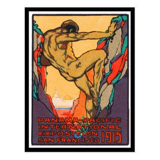 Timbre d'affiche ouvrant PPIE, 1915 Carte Postale