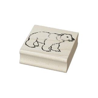timbre d'art d'illustration d'ours blanc de bébé