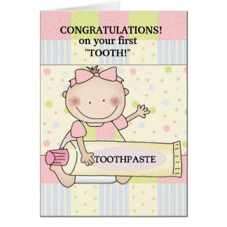 Timbre de bébé de félicitations carte de vœux