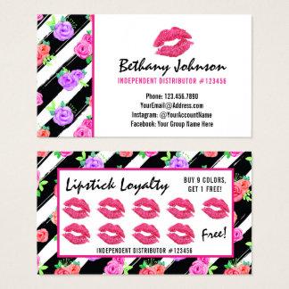Timbre de fidélité de baiser de rose de charme de cartes de visite