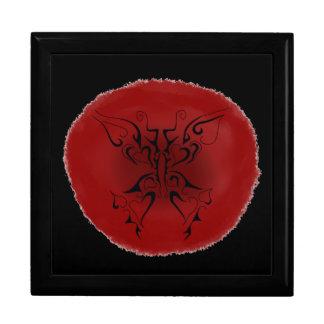 timbre de papillon de tatouage comme la boîte de boîte à souvenirs