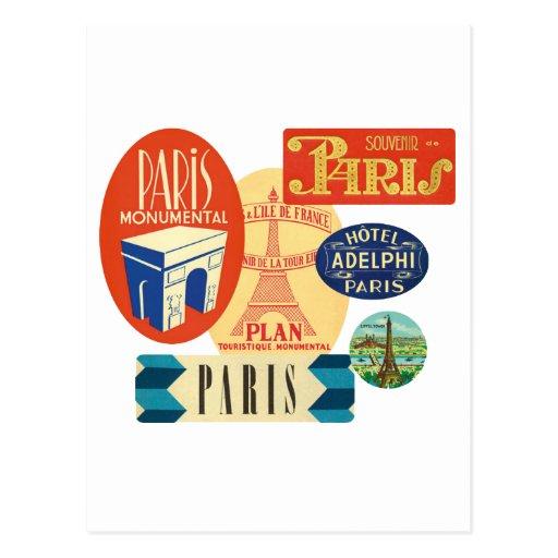 Timbre de Paris Cartes Postales
