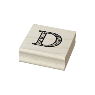 Timbre en bois d'art de monogramme lumineux par D