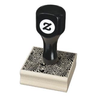 Timbre en bois d'art de rayure de zèbre