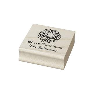 Timbre en bois fait sur commande de Noël de