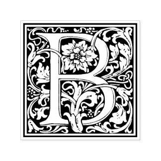 Timbre floral victorien de la lettre B de William Tampon Auto-encreur