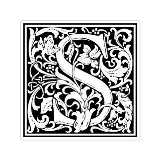 Timbre floral victorien de la lettre S de William Tampon Auto-encreur